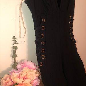 iris Dresses - Sexy Black Romper suit